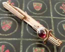 ANTIQUE ANSON SWORD TIE CLIP / HANDSOME CABOCHON JEWEL