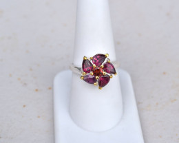 Gorgeous Garnet Ring in Sterling Silver