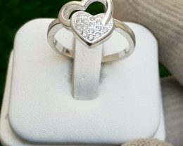 Natural  925 Silver Ring With CZ..