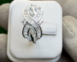Natural 925 Silver Ring