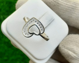 Natural 925 Silver Ring With CZ .