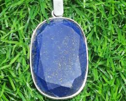 Natural Lapis Lazuli 925 Silver Pendant