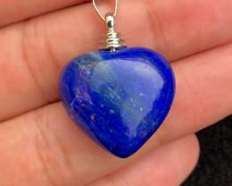Heart shape Lapis pendant