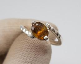 Natural Sphene Titanite Hand Made Ring