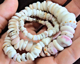 Authentic Handmade Natural Hawaiian Puka Shell Necklace 18.5 Inches - Gorge