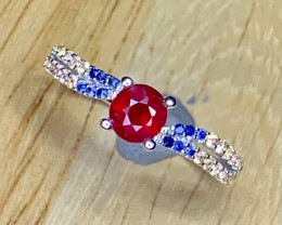 Amazing Natural Ruby and Sapphire ring.