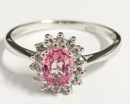 Stylish Natural Spinel And Topaz Ring ~ Silver