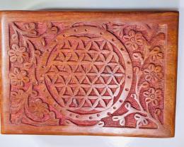 Boho Flower Of Life Jewellery Box with draw code C-BOXTFOL