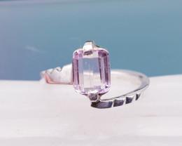 Natural Pink Kunzite (Women Stone) Hand Made Ring
