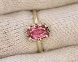 Unique Design 12.30 Ct Silver Ring ~ With Baby Pink Tourmaline