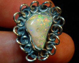8sz Natural Ethiopian Welo Opal .925 Sterling Silver