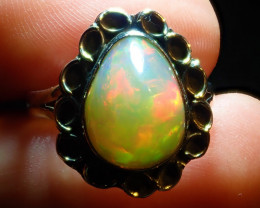 8.75sz Natural Ethiopian Welo Opal .925 Sterling Silver
