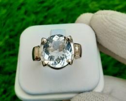 5.75 carats Natural Kunzite 925 Silver Ring