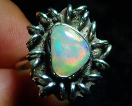 8sz Natural Ethiopian Welo Opal .925 Sterling Silver