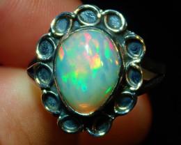 8.50sz Natural Ethiopian Welo Opal .925 Sterling Silver