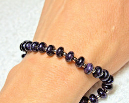 72.5 Tcw. Blue Sandstone Bracelet 8.5 Inch