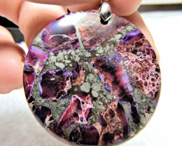 66.5 Carat Purple Imperial Jasper Pendant - Gorgeous