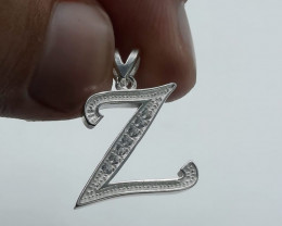 Natural 925 Silver And CZ Pendant
