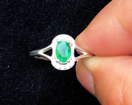 10.30 Ct Natural Green Emerald Gemstone Ring Colombian Emerald