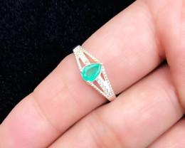HGTL CERTIFIED 10.6 Ct Natural Green Transparent Emerald Gem Ring
