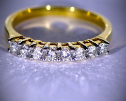 Diamonds .80ct Solid 14K Yellow Gold Multistone Ring