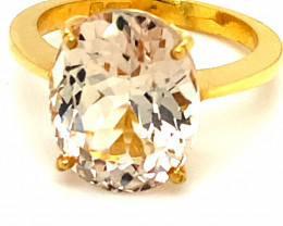 Imperial Topaz 10.44ct Solid 22K Yellow Gold Ring