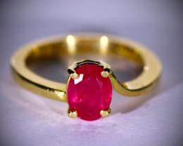 Jegdalek Ruby 1.71ct Solid 18K Yellow Gold Ring