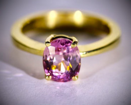 Mahenge Spinel 2.75ct Solid 18K Yellow Gold Ring