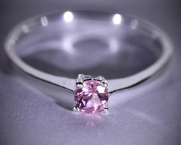 Pink Aquamarine or Morganite .22ct Platinum Finish Solid 925 Sterling Silve
