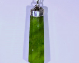 Nephrite Jade 28.30ct Solid 925 Sterling Silver Pendant
