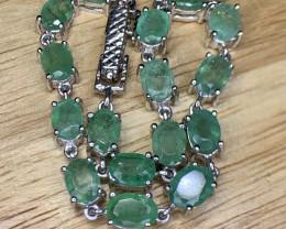 Natural Brazilian emerald Bracelet TCW 11.48.