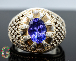 Presenting 78.95 Ct Handmade Silver Ring ~ Tanzanite Stone