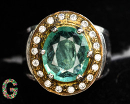 CIGTL CERTIFIED 10.24 Gm Ring ~With AAA Clarity Afghan Emerald Stone