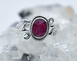 RUBY RING 925 STERLING SILVER NATURAL GEMSTONE JR1182