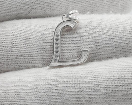 Natural CZ 925 Silver Pendant