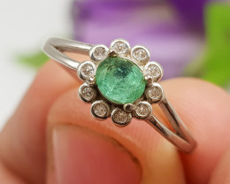 Natural Copper Paraiba Tourmaline 10.00 Carats 925 Silver Ring