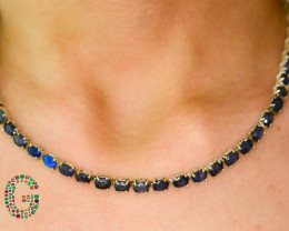 Exclusive Heart Touching 138 Ct Natural Sirilankan Sapphire Necklace With S