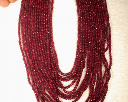 1640.0 Tcw. 15 Strand Ruby Necklace - Gorgeous