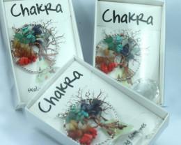 THREE Chakra Tree Of life Sun Catcher Pendants Gift boxed code TOLSCC-1