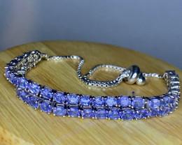 Natural Tanzanite double bracelet Tcw 10.1