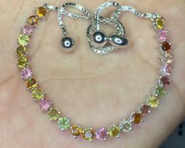 Beautiful Natural Tourmaline Bracelet.