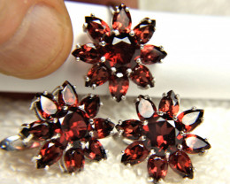 87.05 Tcw. Matched Garnet Earrings and Ring - Gorgeous