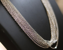 Ten Dual Curb  chain necklace- Silver   Electformed Stainless steel CMT 270