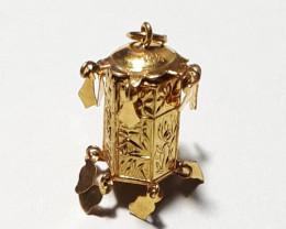14K Gold Charm  Lantern  Code 1910009