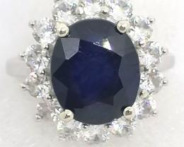 Sapphire and Zircon Entourage Ring 9.50tcw.
