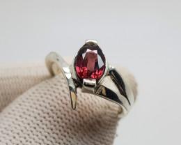Natural Rhodolite Garnet Hand Made Ring