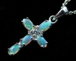 Cute Stylish Crystal Opal Pendant CCC 3125