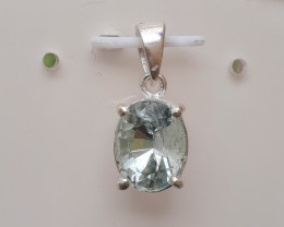 Natural Aquamarine 925 Silver Pendant