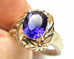 23.0 Carat Amethyst sterling Silver Ring - Gorgeous