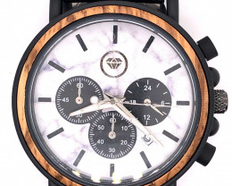 Marble Treasures Eco Friendly Bamboo watch WO 109